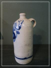 Oude antieke brocante kruik zoutglazuur greskruik (28 cm)