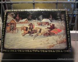 "Antiek winter- kerstblik ""Van Melle"""