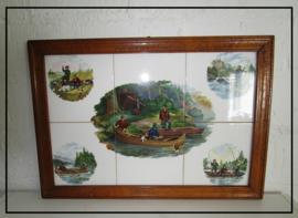 Ingelijst tegeltableau (51 x 35 cm)