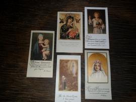 Setje van 5 Franse religieuze plaatjes (P001)
