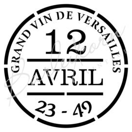 Versailles wijnlabel