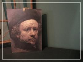 Paneeltje met Rembrandt (21 x 15 cm)