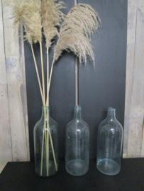 Oude bottelfles gistfles  helder glas (37 cm)