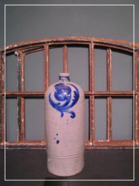 Oude antieke brocante kruik zoutglazuur greskruik (33 cm)