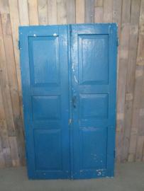 Oude set deuren luiken aqua blauw (L018)