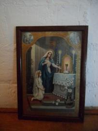 Brocant religieus schilderijtje