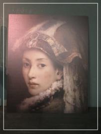 Paneel Oosterse dame (45 x 55 cm)