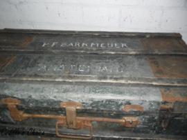 Oude houten hutkoffer (k008)