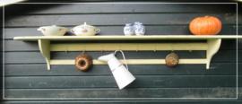 Oud brocante regaal rek keukenrek (225 cm)
