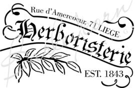 Herboristerie Frans sjabloon