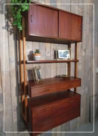 Retro vintage wandmeubel wandrek boekenkast