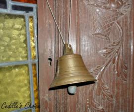 Oude brocante bronzen bel (12)