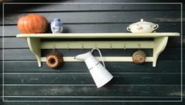 Oud brocante regaal rek keukenrek (155 cm)