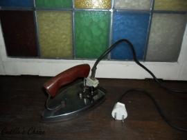 Brocante elektrische reis strijkijzer