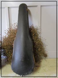Oude brocante vioolkoffer vioolkist - groen