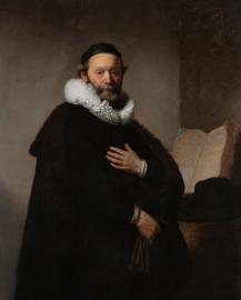 Canvas poster in frame Portret Johannes Wtenbogaert