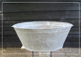 Oude brocante zinken teil (91 x 71 cm) (T034)