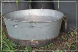 Oude brocante teil zink (63 x 53 cm) (t026)