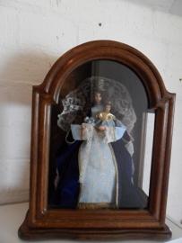 """Houten cabinet """"Maria met kind"""" (51 cm hoog)"""