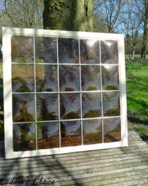 """Duits """"glas in lood"""" raam (86 x 83,5 cm)"""