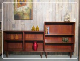 Retro vintage wandmeubel boekenkast