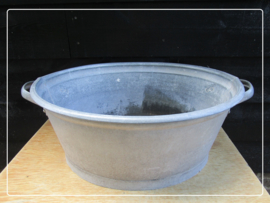 Oude brocante zinken teil (52 x 43 cm) (T035)