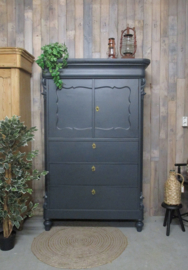 Antiek biedermeier kabinet - graniet grijs