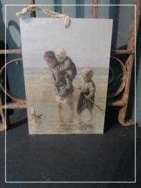 Paneeltje Kinderen van de zee (21 x 15 cm)