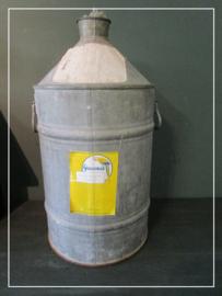 Grote oude zinken voorraad kan (60 cm)