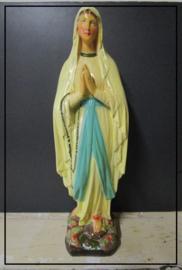 Prachtig oud beeld Maria OLV van Lourdes (53 cm)