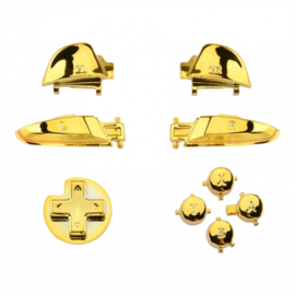 Chrome Goud - Nintendo Switch Pro Controller Buttons