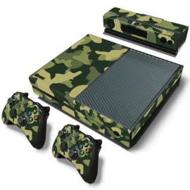 Army Camo Groen Zwart - Xbox One Console Skins