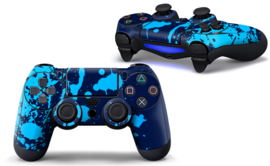 Paint Splatters / Blue and Lightblue - PS4 Controller Skins