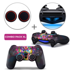 Color Wolf Skins Grips XL Bundel - PS4 Controller XL Combo Packs
