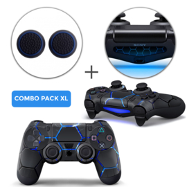 Hex Lightning Skins Grips XL Bundel - PS4 Controller XL Combo Packs