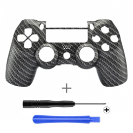 PS4 Controller Behuizing Shell - Carbon (GEN 4, 5) - Front Shell