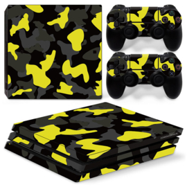 Army Camo Geel Zwart - PS4 Pro Console Skins