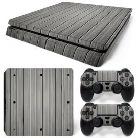 Wood Grey - PS4 Slim Console Skins