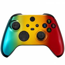 Xbox Series Draadloze Controller - Chrome Groen Goud Rood Custom