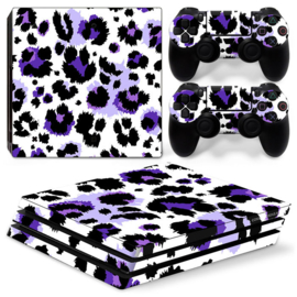 Luipaard Print Paars - PS4 Pro Console Skins