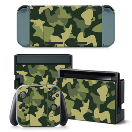 Army Camo Groen Zwart - Nintendo Switch Skins