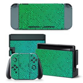 Cool Gradient Groen Blauw - Nintendo Switch Skins