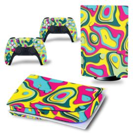 PS5 Console Skins - Artboard Geel / Roze