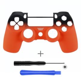 Gradient Soft Touch Black / Orange (GEN 4, 5) - PS4 Controllers Shells