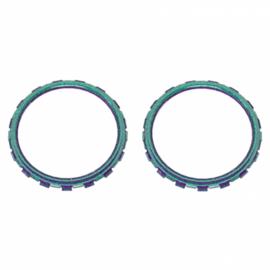 PS5 Controller Buttons - Metallic Chameleon Groen / Paars - Accent Ringen