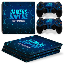Gamers - PS4 Pro Console Skins
