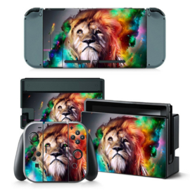 Lion Abstract - Nintendo Switch Skins