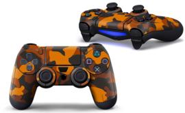 Army Camo Oranje Zwart - PS4 Controller Skins