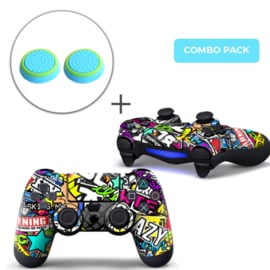 Stickerbomb Skins Grips Bundle - PS4 Controller Combo Packs