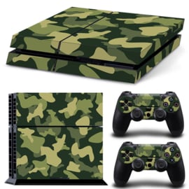 Army Camo Green Black - PS4 Console Skins